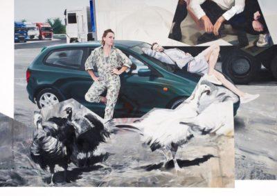 Turbosłowianie /2018, olej na płótnie, 178 x 248 cm/